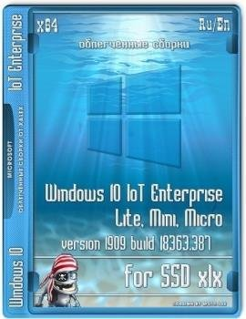 Windows 10 IoT Enterprise Lite, mini, micro 1909 (18363.387) for SSD xlx (x64)