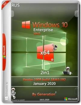 Windows 10 Корпоративная v.1909.18363.592 Jan2020 by Generation2 64bit